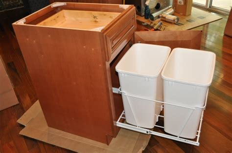kitchen garbage cabinet kitchen trash cans in cabinet roselawnlutheran