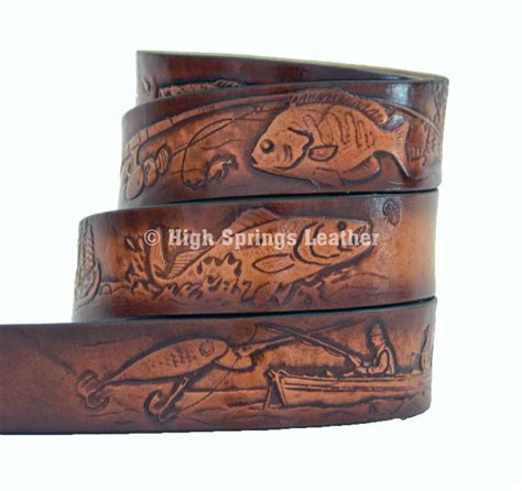 high springs leather l fishing leather name belt made in usa