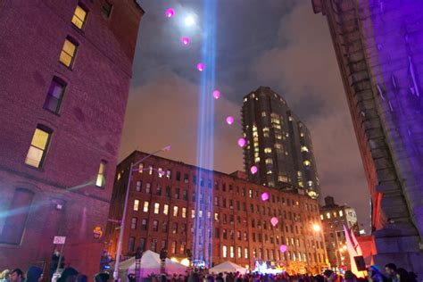 dumbo festival of lights clay paky new york festival of light makes a hit in