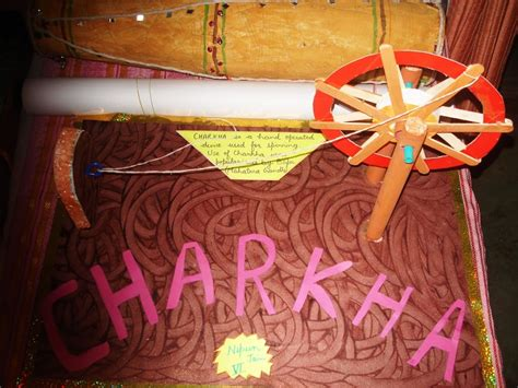 biography of mahatma gandhi for school project art and craft gandhiji s charkha independence project