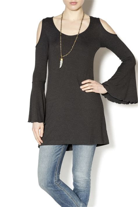 abby shoulder cut out shirt from florida shoptiques