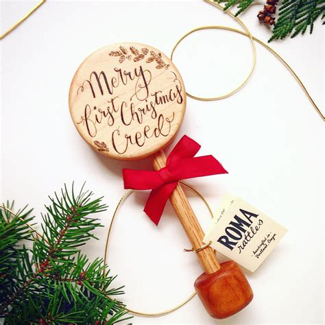 personalized baby s first christmas gift keepsake wooden
