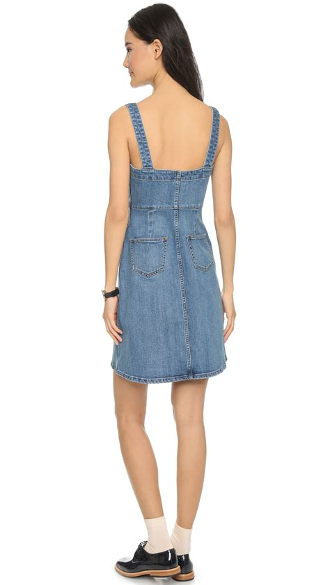 Denim Victoriaje Dress denim overall dress madewell dress uk