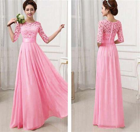 Longdresss Import 1 dress model gaun pink import 2016 model terbaru