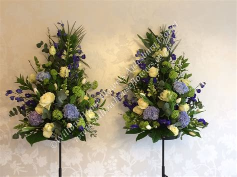 blue hydrangea flower arrangements fresh flower floral arrangement church registry office