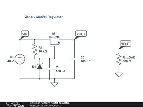 zener resistor circuit zener mosfet regulator circuitlab