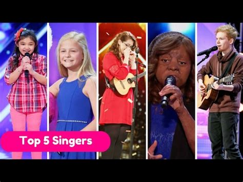 american best talent best 5 singers on america s got talent 2017