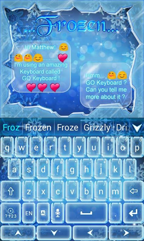 go keyboard themes phoneky frozen go keyboard theme android apps on google play