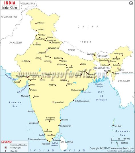 india map with cities india cities map india city maps india