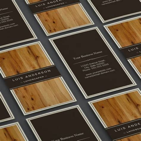 textured business card template landscaper stylish wood texture business card template