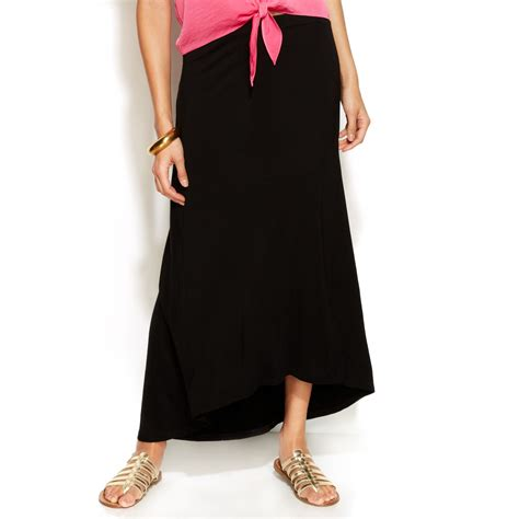 tracy highlow maxi skirt in black lyst