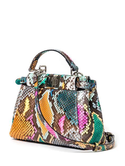 Fendi Handbag Charm by Fendi Python Peekaboo Charm Bag Lyst