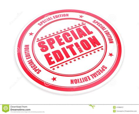 Special Edition special edition stock illustration image 41085872