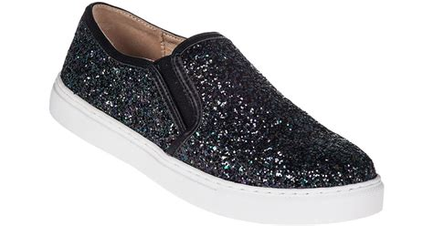 Slip On On19 Putih 2 j slides j zee slip on sneaker black glitter in black black glitter lyst