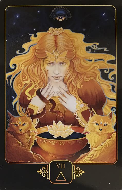dreams of gaia tarot 1922161950 featured card of the day 7 of fire dreams of gaia by ravynne phelan 171 tarot by cecelia
