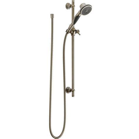delta 3 spray slide bar shower in stainless 57021 ss