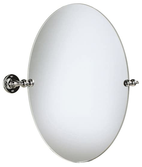heritage oval swivel mirror chrome ahc17