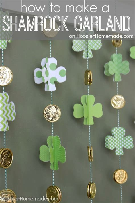 how to make a paper shamrock garland hoosier