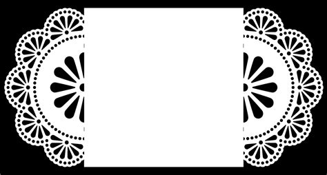 free wedding gate fold card template silhouette doily gatefold 2 free cut file