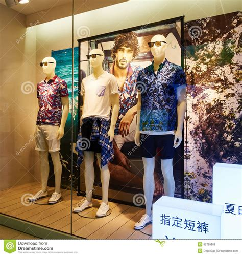 clothing store clothes shop sale window editorial