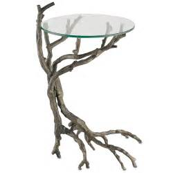 Aluminum Accent Table Metal Branches Accent Table Earthy Chic