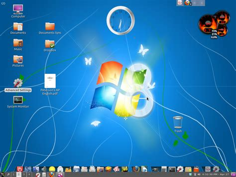 Desktop Bar On Top by Cairo Dock With What Desktop Panel Ask Ubuntu