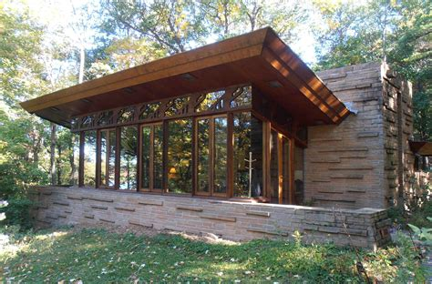 Usonian Floor Plans by Frank Lloyd Wright S Wisconsin Cottage Portal Wisconsin Blog