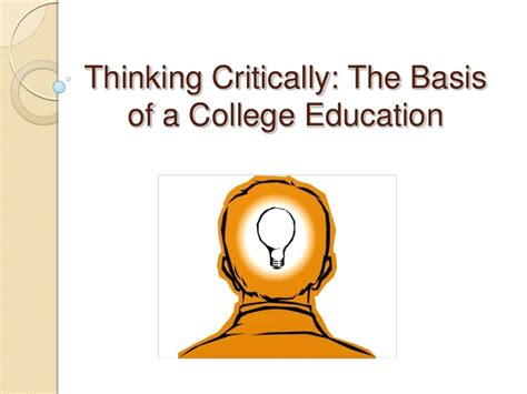 thinking critically chapter 5 thinking critically