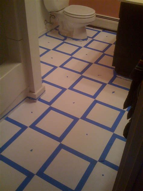 paint tile floor bathroom diy painting vinyl floor tiles wiseman designs
