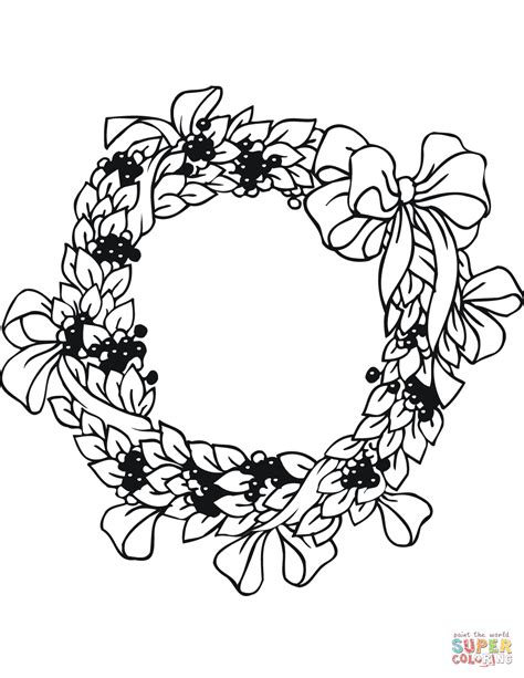 wreath coloring page wreath coloring page free printable coloring pages