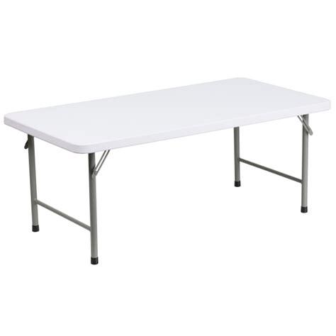 ff kid s plastic folding table white 24 x 48