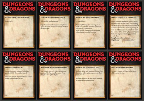 d d 5e item card templates dnd item cards arts crafts d d beyond general d d