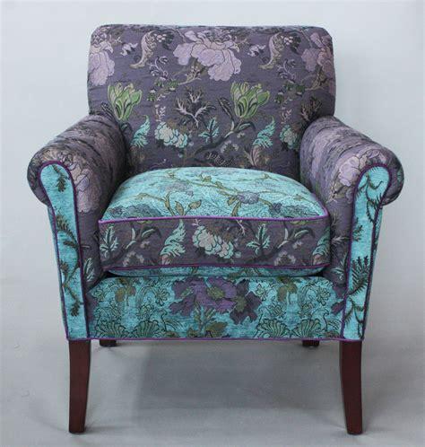 salon chair  lavender vine  mary lynn oshea upholstered chair artful home