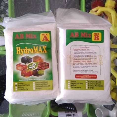 Pupuk Ab Mix Cabe jual nutrisi hidroponik ab mix hydromax cabe paprika