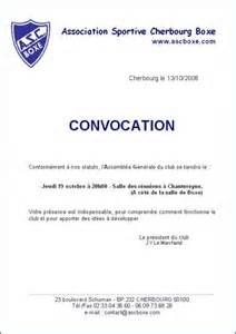 Lettre De Non Presentation Convocation Modele Convocation A Reunion Document
