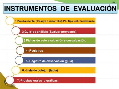 rbricas instrumentos de evaluacin 2015 2016 instrumentos de evaluacion