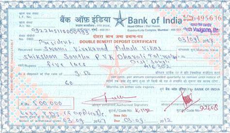 Certificate Of Deposit Letter Welcome To Sou Indumati Patil Mahila College