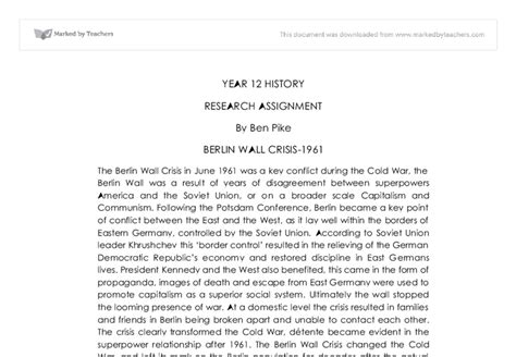 Berlin Wall Essay by Why Was The Berlin Wall Built In 1961 Essay Courseworkbook X Fc2
