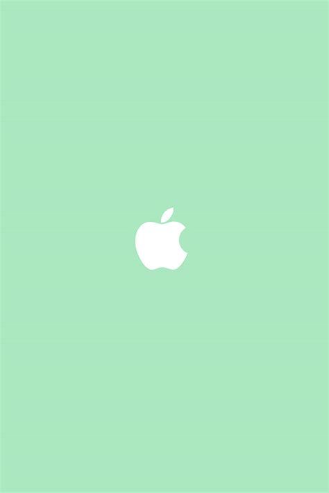 freeios apple simple logo green parallax hd iphone