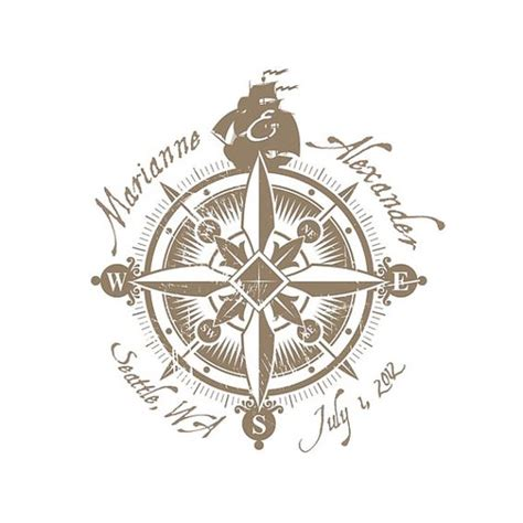 compass tattoo with names i love this minus the names and stuff nautical wedding