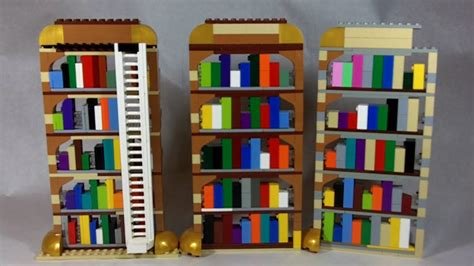 how to build lego bookshelves