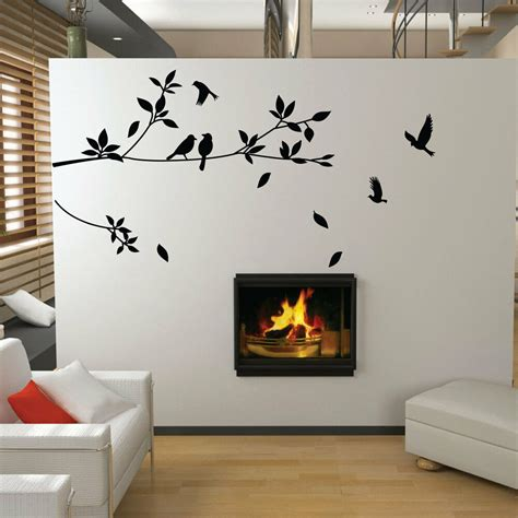 tree  bird wall stickers vinyl art decals ebay