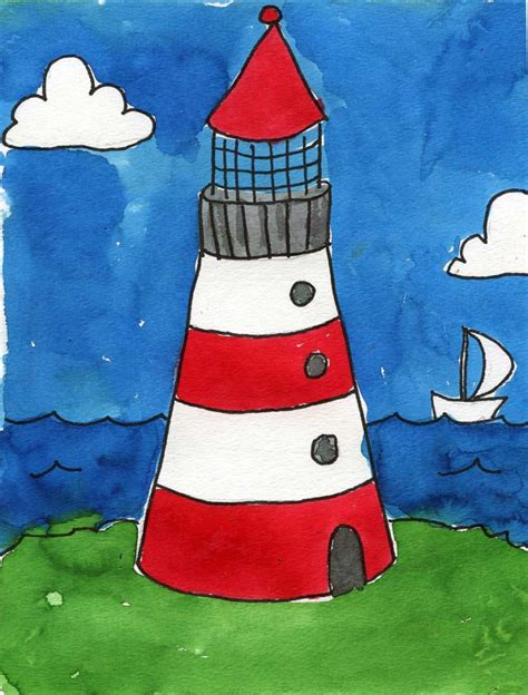 painting for kids lighthouse art projects for kids