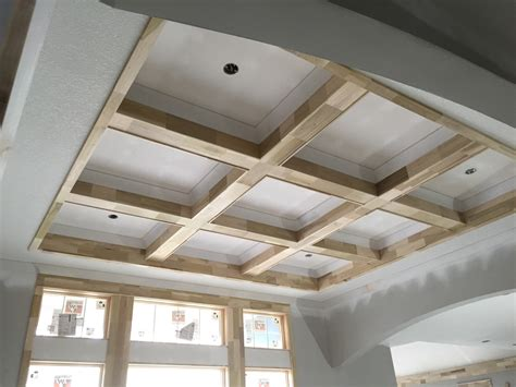Coffered Vaulted Ceiling Coffered Ceiling And Cathedral With And Beams