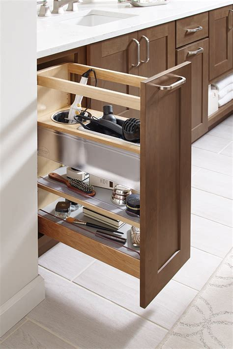 cabinet pull out grooming organizer for bathroom vanity vanity grooming pullout cabinet diamond cabinetry