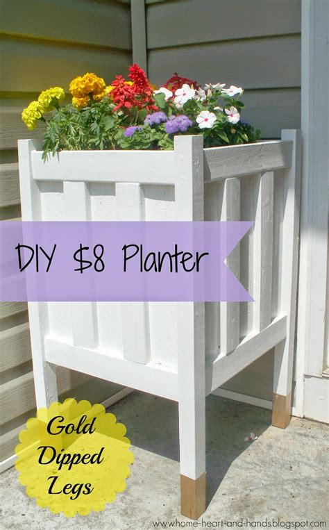 home heart and hands diy front porch planter with gold