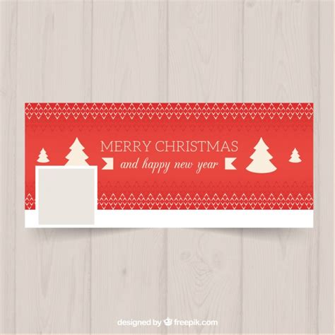 facebook themes red red facebook cover in a christmas theme vector free download