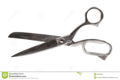 Metal Scissors metal scissors isolated on white stock images image