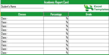Student Report Card Template Report Card Template Printable Report Cards