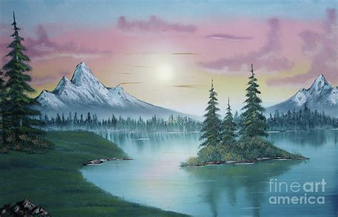 bob ross painting poster mountain lake painting a la bob ross 1 bob ross